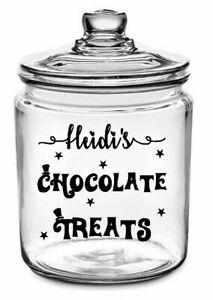 Personalised Sweets Chocolate Sticker label Mason Jar Tin Kids birthday xmas