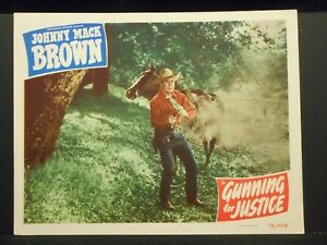Johnny Mack Brown Gunning For Justice 1948 Lobby Card # 2 VF Western