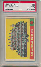 1961 Topps Baseball Los Angeles Dodgers Team Card (#86) PSA9 PSA