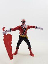 """Power Rangers 6"""" Bandai 2011/2012 Figura De Ranger Rojo Samurai tanque Tiger"""