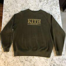 Kith Love Thy City Crewneck Olive Green Brand New