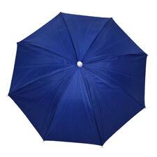 Navy Blue Fishing Outdoor Sports Polyester Umbrella Hat L3k6 M6z5