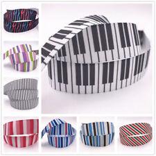 DIY 1-50 Yard 1'' 25MM stripe Printed Grosgrain Ribbon Hair Bow Sewing Ribbon