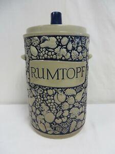 Vintage Marzi & Remy Rumtopf large storage jar with lid #3041/7