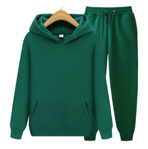 2Pcs Women Loose Casual Solid Pullover+ Pants Suit Ladies Long-sleeve Sports Set