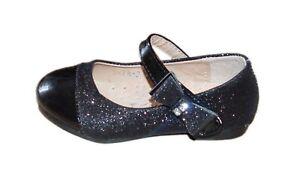 Mädchenschuhe Kinder Festliche Ballerina Pumps mit Absatz Lackoptik schwarz F78
