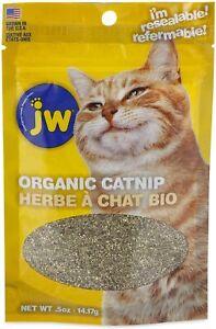 JW Pet  Organic 100% Pure Catnip Pouch 1/2 oz Bag Grown in the USA Ultra Fine