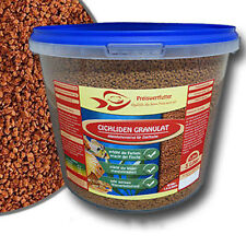 Cichlidengranulat 3 Liter Eimer 1,2 kg Futter  Barsche Fische Granulat Aquarium