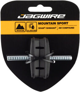 Jagwire Mountain Sport Cantilever Brake Pads Smooth Post 53mm AW Compound