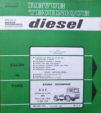 Revue technique DIESEL camion DAF SERIE 2600 moteur DK DKA DKD 1160 RTA 51D 1971