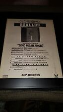 Real Life Send Me An Angel Rare Original Radio Promo Poster Ad Framed!