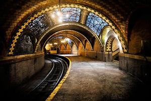 Framed Print - New York's Abandoned City Hall Station Ghost Subway (Underground)