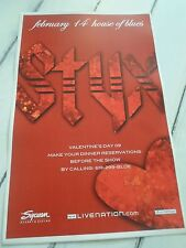 "STYX Concert Poster VALENTINES DAY San Diego House of Blues 11""x17"""