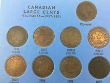 canada canadian 1858 to 1920 large cent whitman collection dates readable