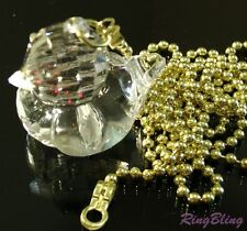 Duck Bedroom Bathroom Light Pull Chain. Crystal Effect Pull Cord Replacement