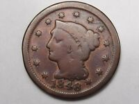 1848 US Braided Hair Large Cent (Old Cleaning).  #15