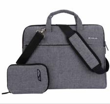 Gray Canvas Messenger Bag For Dell Alienware / Inspiron 17 / HP 17.3 Laptop