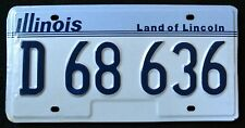 """ILLINOIS """" LAND OF LINCOLN - D 68 636  """" 90s  IL Vintage Classic License Plate"""