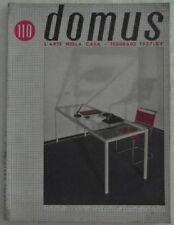 AA.VV.: DOMUS. L'ARTE NELLA CASA. ANNO X FEBBRAIO 1937 NUMERO 110. 1937