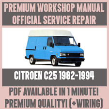 *WORKSHOP MANUAL SERVICE & REPAIR GUIDE for CITROEN C25 1982-1994 +WIRING