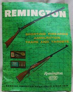 REMINGTON SPORTING FIREARMS RIFLES SHOTGUNS AMMUNITION CATALOG 1966 VINTAGE