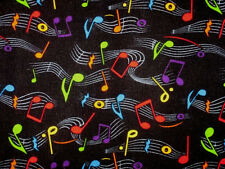 "Handmade 42"" x 14"" 100% Cotton black musical note black anyroom curtain valance"
