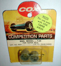 #9824 Ford GT Wheels Extra Wide Rear for Tapered axle COX 1/24 scale 1960's NOS