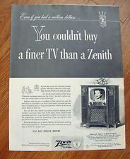 1952 Zenith Barlow TV Radio Phonograph Television Ad