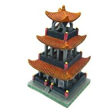 Asian tower Aquarium Ornament Decoration 21.8cm - Fish Tank Kulou Floor Building