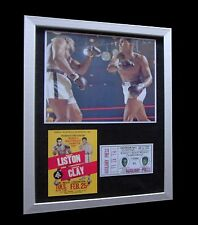 MUHAMMAD ALI+CASSIUS CLAY+Sonny liston 1964+LTD+FRAMED+EXPRESS GLOBAL SHIPPING!!