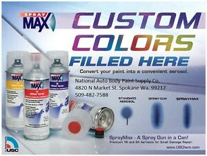 Spray Max 2K High Gloss Urethane Touch Up Mixed to Paint 121V For Chevy