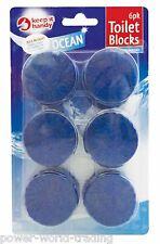6PC PACK OF TOILET BLOCKS BLUE LOO FLUSH CISTERN HYGIENE CLEAN FRESH FRAGRANCE