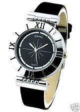 Roman Digit Woman's Wrist Watch - Black Color Ladies Watches