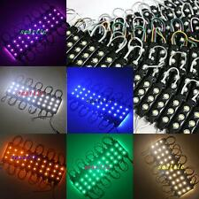 LED Module Light RGB RED BLUE Warm White SMD 5050 3led Injection Black Shell New