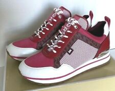 New Michael Kors Maddy Trainer sneakers size 7 Merlot multi