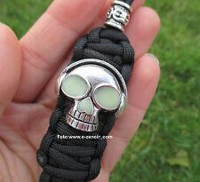 Schlüsselanhänger aus Paracord mit Dj Skull Anhänger - für Messer