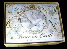 "Punch Studio 15 3D Christmas Cards & Envelopes Peace on Earth Dove 14961 5"" x 7"""