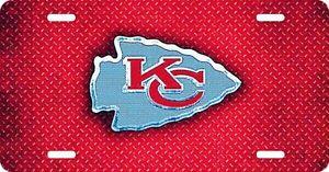 New NFL Kansas City Chiefs Team Logo License Plate