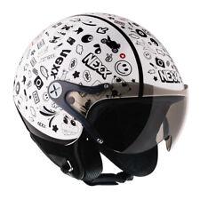 NEXX Sx60 Spock White Motorcycle Motorbike Open Face Kids Helmet | All Sizes