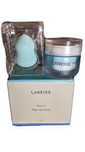 [LANEIGE] White Dew - Tone up Cream 50ml w/ Beauty Sponge SET FREE Ship from USA