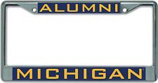 Michigan University of Alumni Chrome License Plate Frame