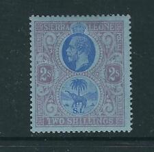 Sierra Leone Stamps 116 SG 130  2 sh Blue & Purple/blue MHR VF 1912 SCV $29.00