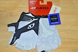 giro mens monaco road gloves white black XL soft shell cycling pittards leather