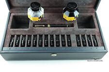 OMAS Black Paragon Fountain Pen w/15 Gold Nib Set Ink & Nib Cleaner Included