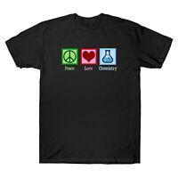 Peace Love Chemistry Men's Gift Chemistry Short Sleeve Black T-Shirt