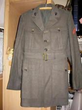 Look! ID'd WWII USMC Class A Kersey Uniform Jacket w/ Belt  Wool Felt  1943