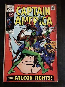 CAPTAIN AMERICA #118 2ND APP FALCON MARVEL COMICS VG