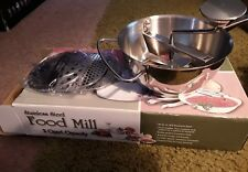 stainless steel food mill 2 quart