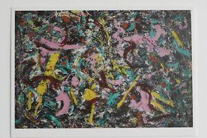 "JACKSON POLLOCK: ""Unformed Figure"",1953 , Kunst-Postkarte / auch mit Rahmen"