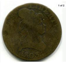 Rare 1803 Kettle Gaming Token, $5 Brass Counter, Turban Head